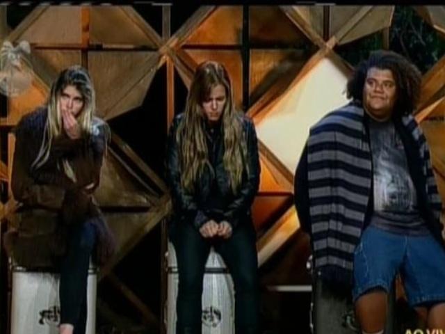 25.set.2013 - Bárbara Evans, Denise Rocha e Gominho na roça