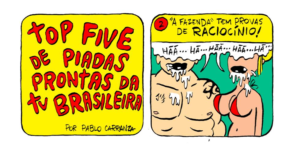 27.set.2013 - Em 2º lugar, no ranking das piadas prontas da TV brasileira