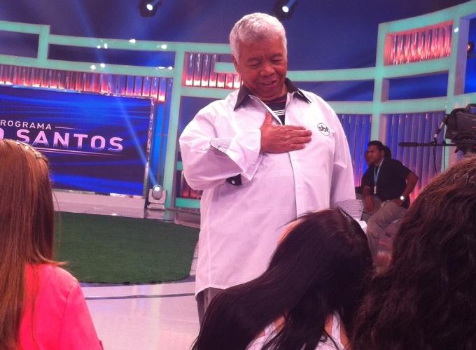set.2013 - Na imagem, o diretor de auditório do SBT, Roque conversa com a plateia