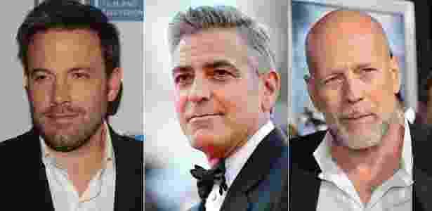 Ben Affleck, George Clooney e Bruce Willis: galãs de Hollywood e seus fios grisalhos - Getty Images/Montagem/UOL