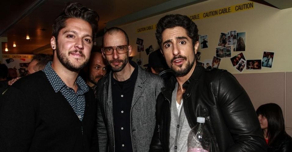 26.set.2013 - André Vasco,Cazé Peçanha e Marcos Mion em evento da última transmissão da MTV