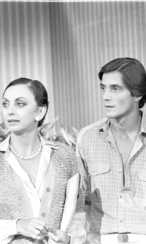 """Beatriz Segall, Fábio Junior e Tônia Carrero e cena da novela """"Água Viva"""""""