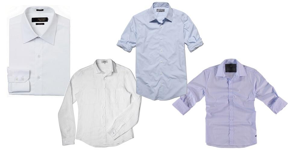 Todo homem deve ter pelo menos uma boa camisa branca de manga longa no  guarda- 77603b90c5