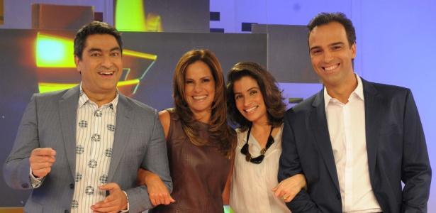 Renata Ceribelli, Tadeu Schmidt, Renata Vasconcelos e Zeca Camargo.