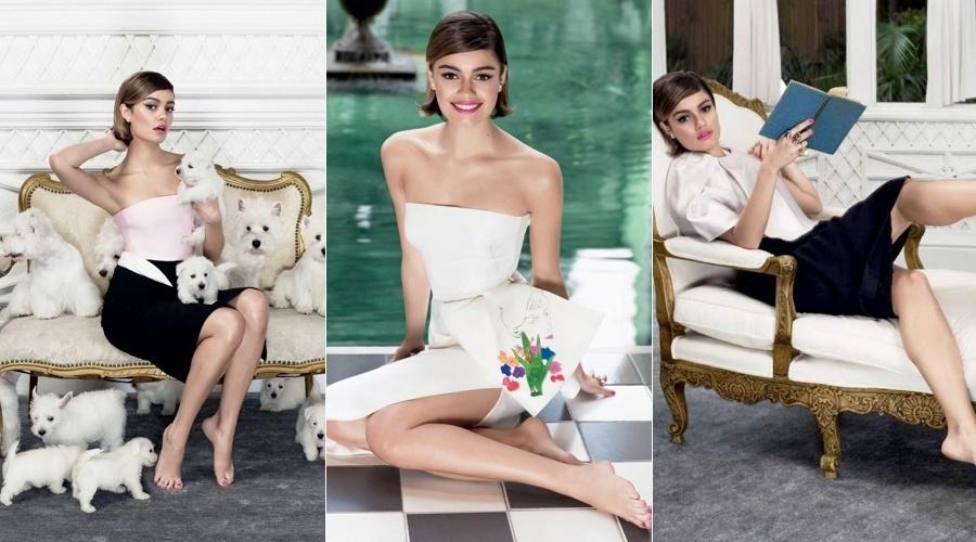 """30.set.2013 - Sophie Charlotte é a estrela da nova edição da revista """"Glamour"""""""