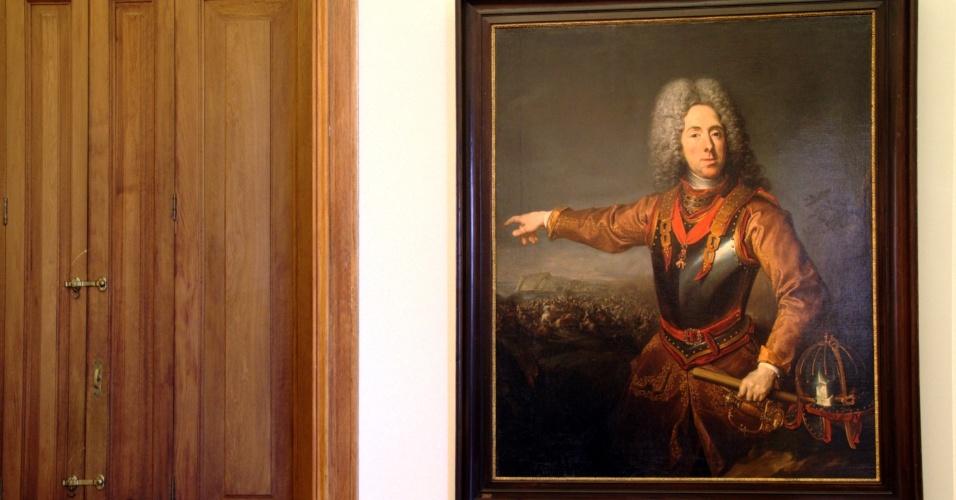 Quadro do príncipe Eugênio de Saboia pintado pelo artista Jacob von Shuppen, em exposição no Palácio Belvedere, antiga residência de verão de Saboia, um dos mais famosos personagens gays da Áustria
