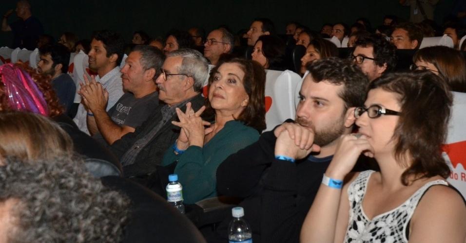 """29.set.2013 - Betty Faria na exibição do curta """"Graça"""", de Anna Clara Peltier, no Festival do Rio"""
