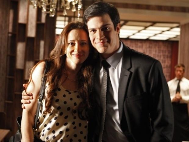 """30.set.2013 - Casados na vida real, Mateus Solano e Paula Braun gravam juntos pela primeira vez em """"Amor à Vida"""""""