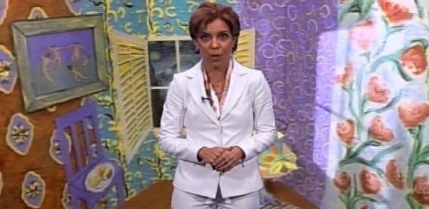 Astrid Fontenelle nos minutos finais da transmissão da velha MTV Brasil