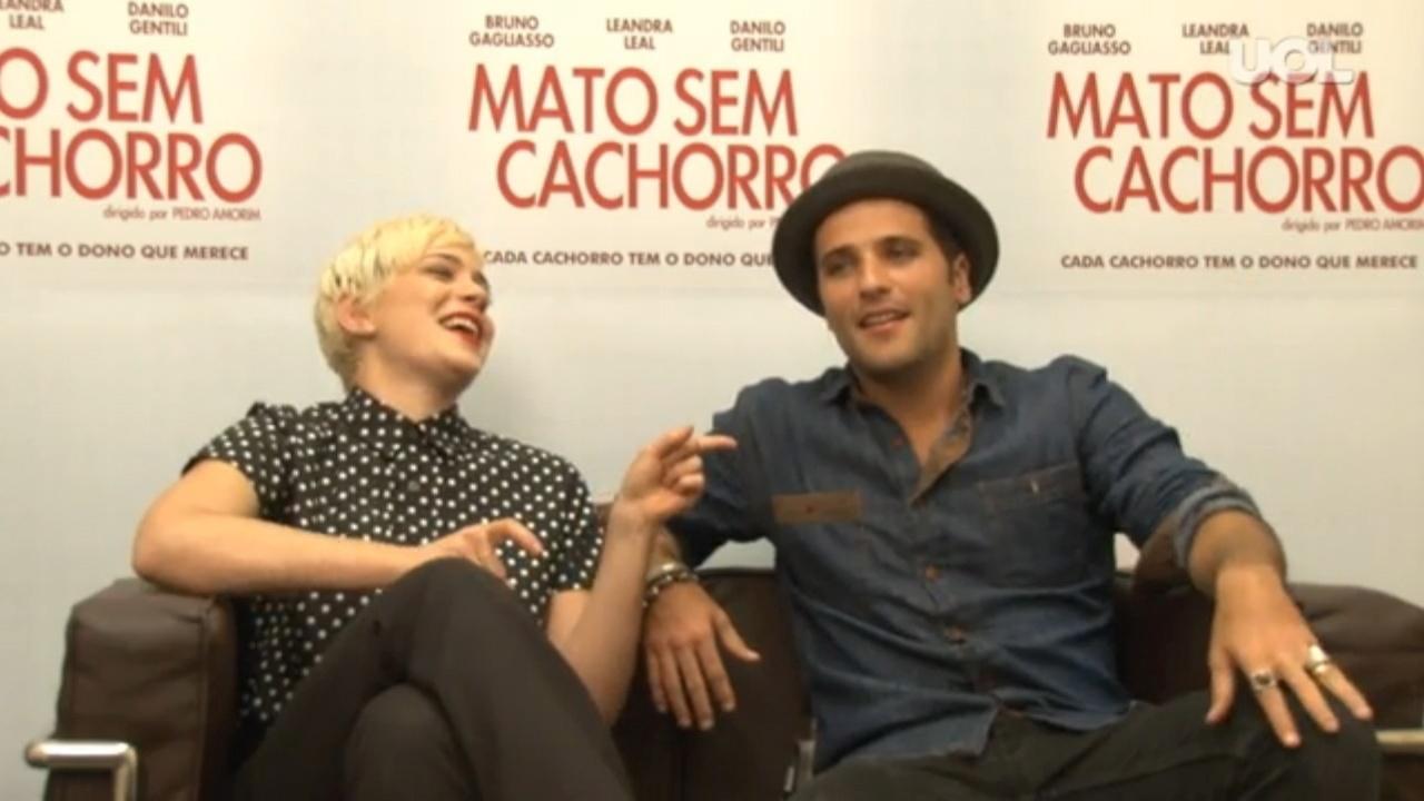Leandra Leal e Bruno Gagliasso promovem a comédia