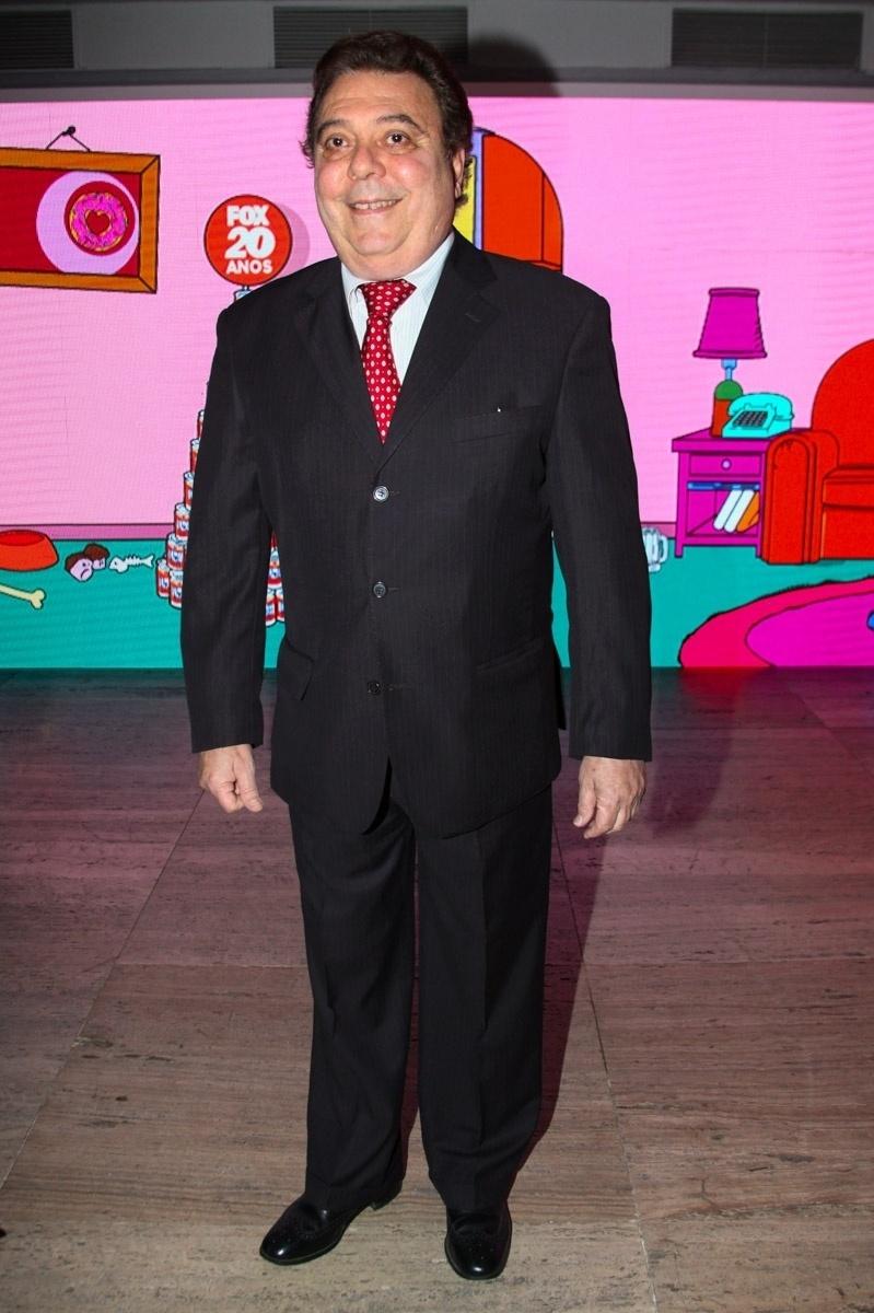 1.out.2013 - Anibal Massaini na festa de comemoração dos 20 anos do canal Fox no Brasil. O evento aconteceu em uma casa noturna de São Paulo