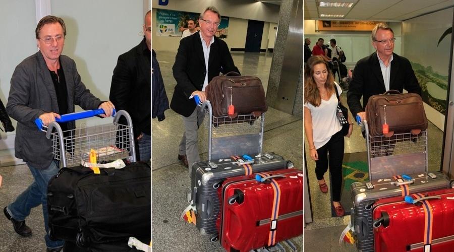2.out.2013 - Os atores Tim Roth e Sam Neil desembarcaram no aeroporto internacional do Rio. Segundo informações da AgNews, os atores estão na cidade para rodar um filme
