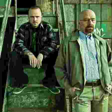 """Aaron Paul (Jesse) e Bryan Cranston (Walter) em cena da última temporada de """"Breaking Bad"""" - Divulgação"""