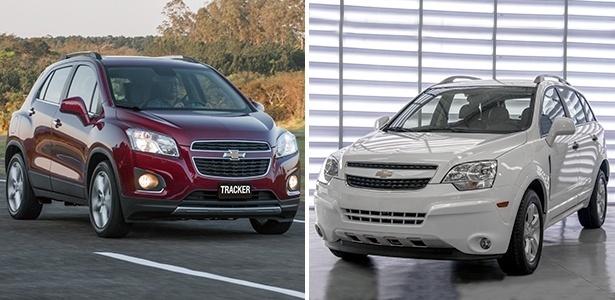 Chevrolet Tracker LT não vem ao país; Captiva V6, também feito no México, deixa de ser importado - Montagem sobre Divulgação