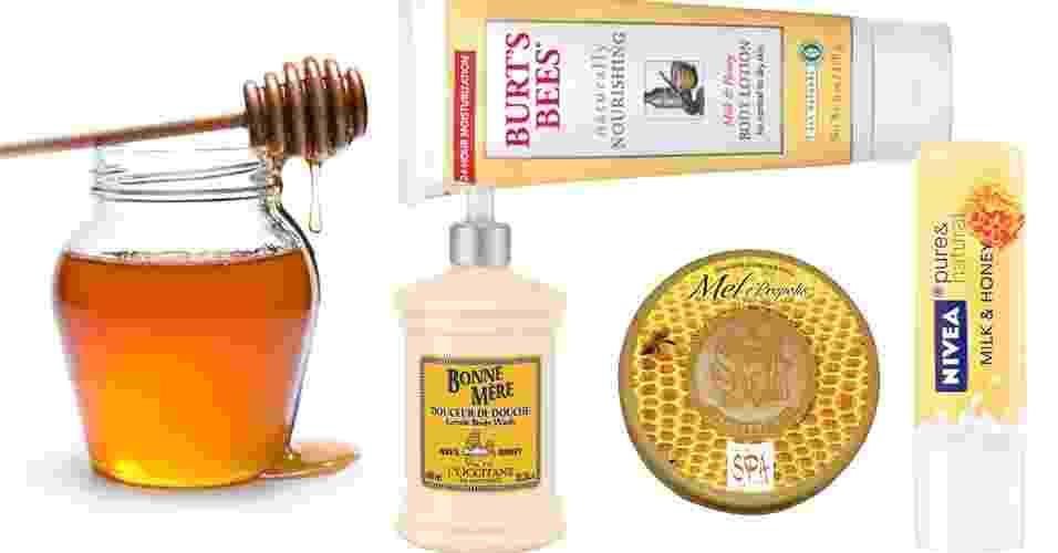Produtos de beleza com mel na formulação - Thinkstock e Divulgação/Montagem UOL