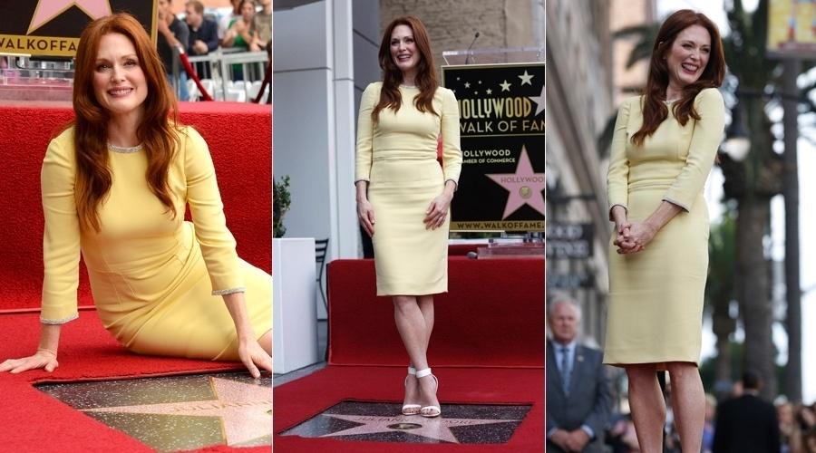 3.out.2013 - Julianne Moore ganhou uma estrela na Calçada da Fama em Hollywood, Califórnia