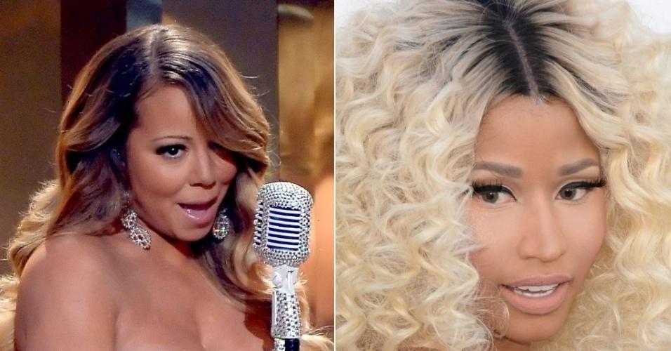 "4. out.2013 - Nicki Minaj chamou Mariah Carey de ""insegura e amarga"" no Twitter"