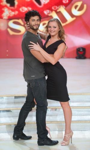 """4.out.2013 - Jesus Luz participa das gravações do programa """"Dancing With the Stars"""", na Itália"""