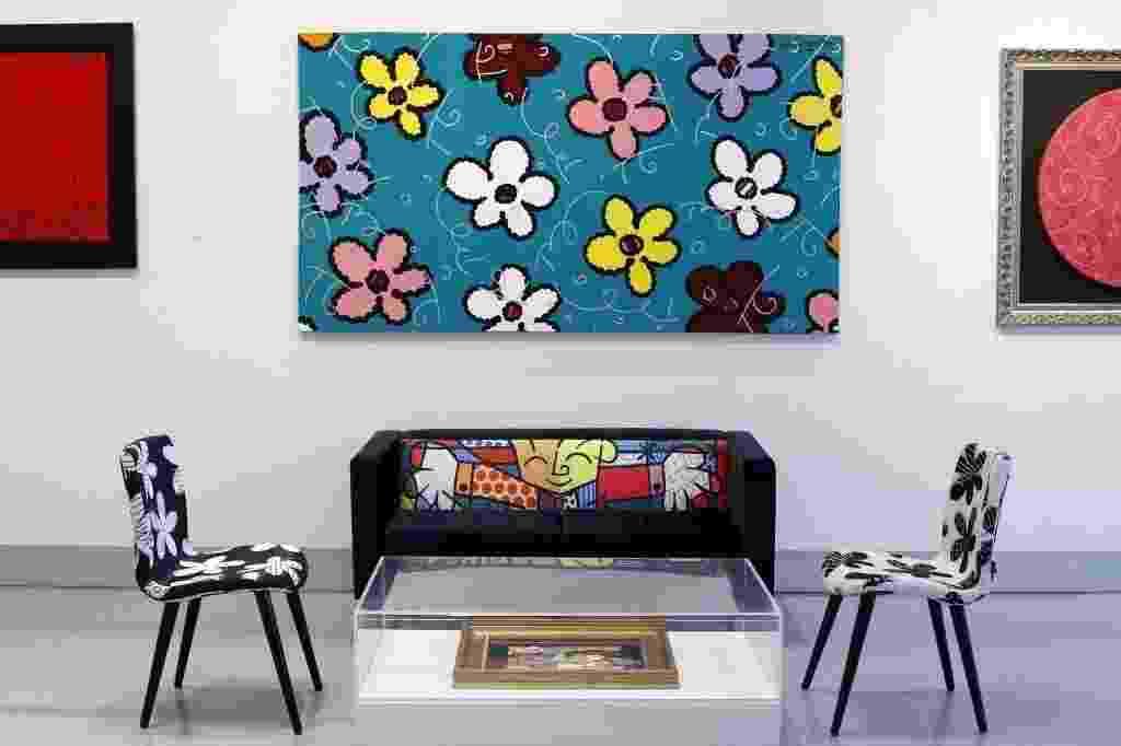 05.out.2013 - Sala da galeria Britto, na Rua Oscar Freire, em São Paulo, do artista plástico Romero Britto - Wanezza Soares/UOL