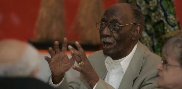 Mestre Didi, no evento que celebrou seus 90 anos, no Museu Afro Brasil, em São Paulo - Mastrangelo Reino/Folhapress