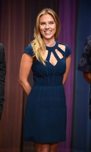 13.set.2013 - Scarlett Johansson no programa
