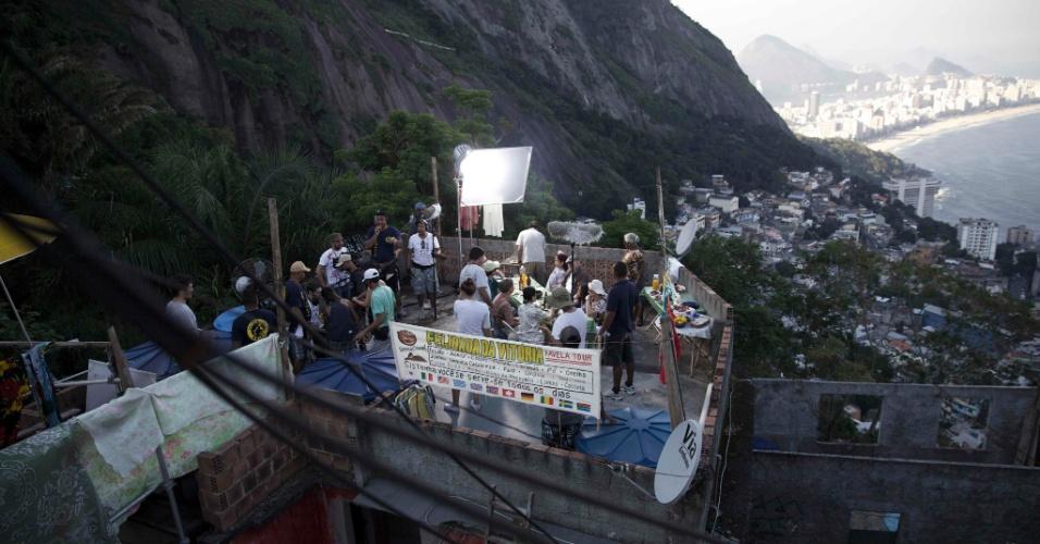 """7.out.2013 - Bastidores de """"Destino: Rio de Janeiro"""", série produzida pela O2 que estreia em breve na HBO"""