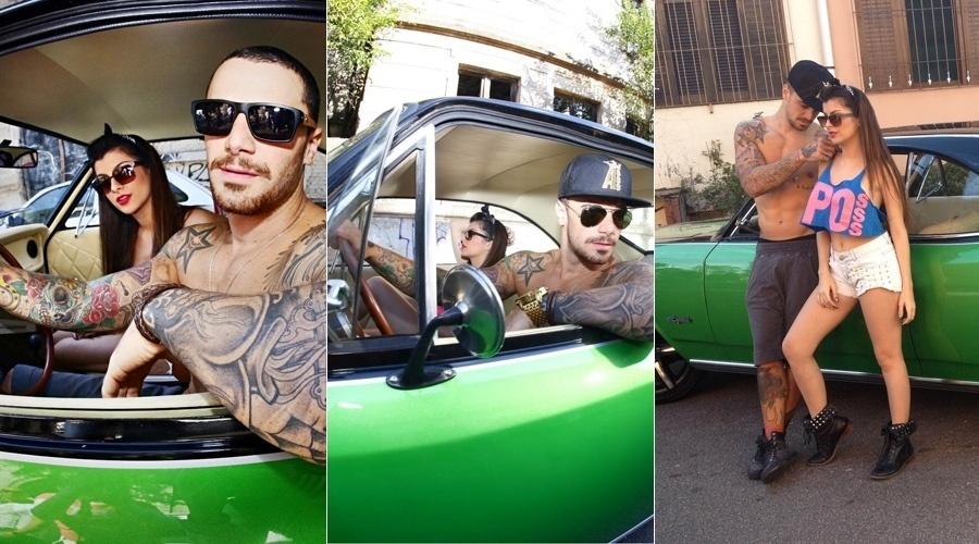 """7.set.2013 - Felipe Titto, o mordomo Wagner de """"Amor à Vida"""", fez ensaio para uma grife jovem. O ator posou sem camisa e exibiu as inúmeras tatuagens"""