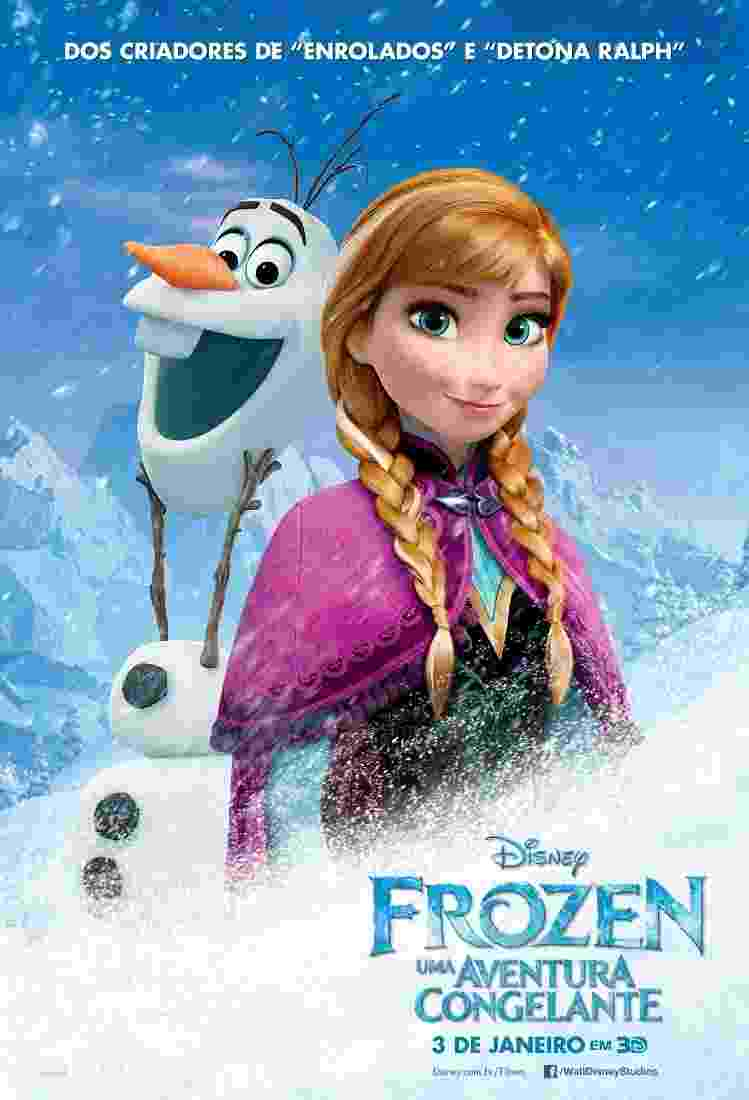 """Pôster de """"Frozen: Uma Aventura Congelante"""" - Divulgação"""
