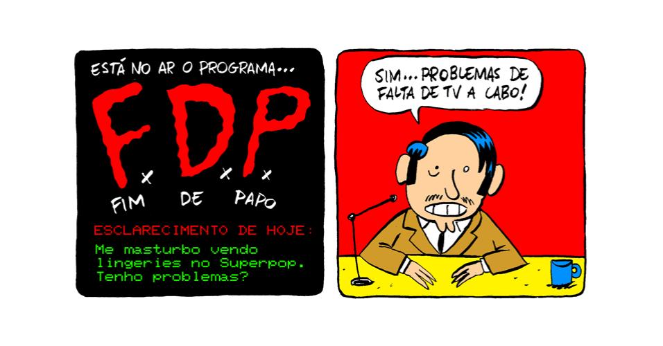 """10.out.2013 - Programa """"Fim de Papo"""" esclarece masturbação com lingeries do SuperPop"""