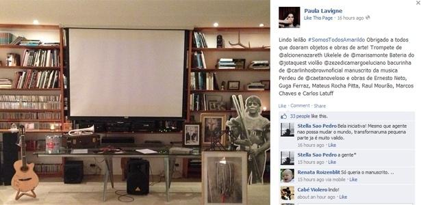 Paula Lavigne divulga fotografia de objetos e obras de arte leiloados em sua residência, no Rio, em prol da família de Amarildo - Reprodução/Instagram