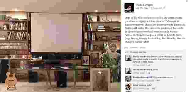 8.out.2013 - Paula Lavigne divulga objetos e obras de arte leiloados em sua residência, no Rio, em prol da família de Amarildo - Reprodução/Instagram