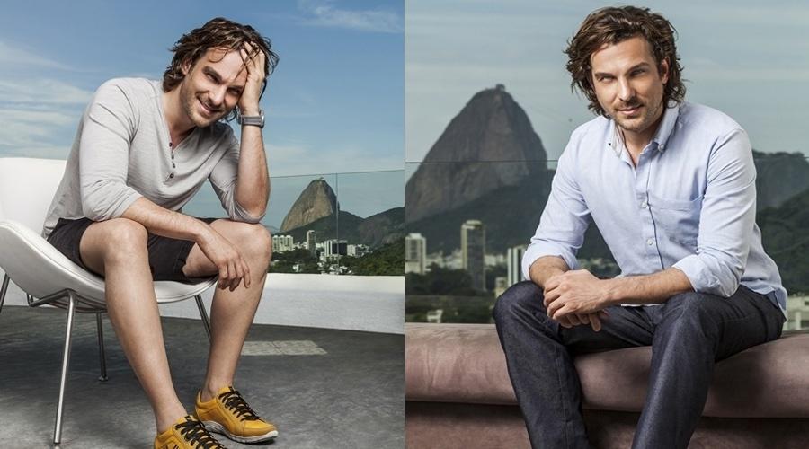 """9.out.2013 - Igor Rickli, que viveu o vilão Alberto em """"Flor do Caribe', fez ensaio para uma marca de calçados masculinos"""
