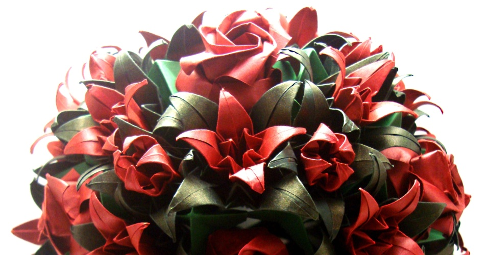 Buquê de origami da Amor Dobrado (www.amordobrado.com.br)