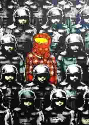Os Gêmeos e Banksy se unem em arte para capa de revista americana - Divulgação