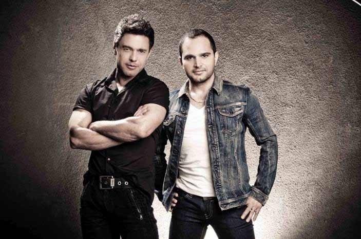 Zezé Di Camargo e Luciano cantam seus maiores sucessos em dois shows.
