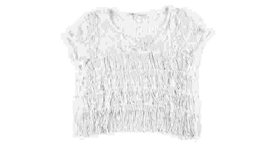 Camiseta com franjas e renda; R$169, na Ágatha (www.agatha.com.br) Preço pesquisado em setembro de 2013 e sujeito a alterações - Divulgação
