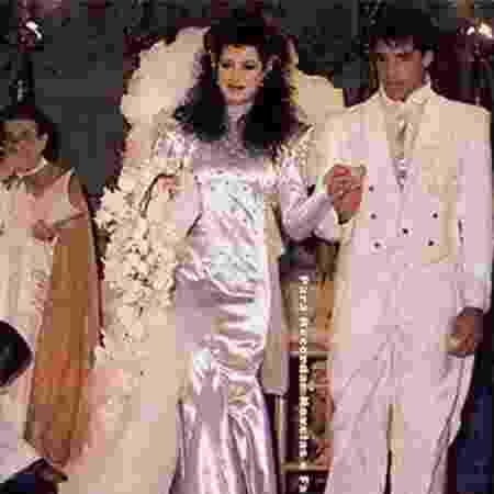 Casamento de Claudia Raia e Alexandre Frota, em 1986 - Reprodução
