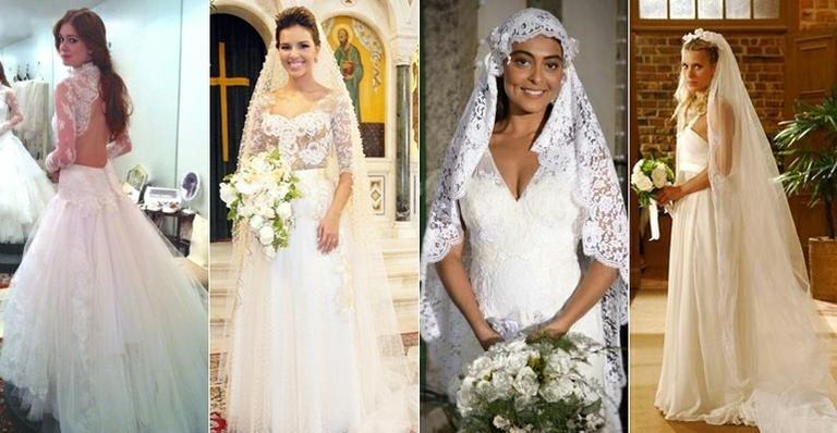 Noivas de novelas com vestidos de noiva feitos pela estilista Lethicia Bronstein
