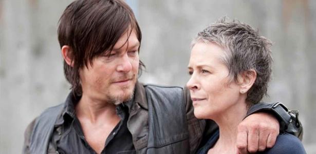 """Daryl Dixon (à esquerda), não é gay, disse criador de """"Walking Dead"""""""