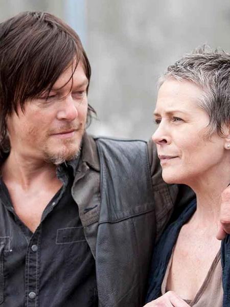 """Daryl Dixon (Norman Reedus) and Carol Peletier (Melissa McBride) em cena de """"The Walking Dead"""" - Gene Page/AMC/Divulgação"""