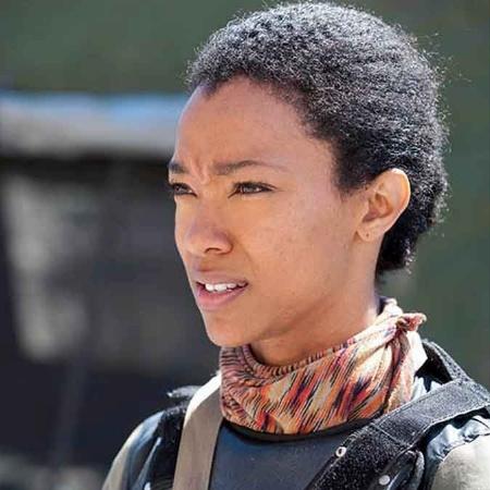 """A atriz Sonequa Martin-Green em cena de """"The Walking Dead"""" - Gene Page/AMC/Divulgação"""