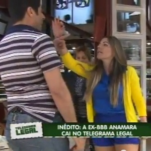"Ex-BBB Anamara no Telegrama Legal do ""Domingo Legal"""