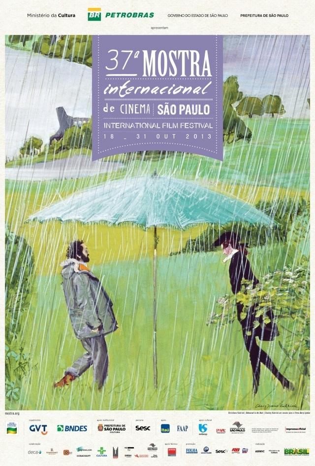 Cartaz da 37ª Mostra Internacional de Cinema em São Paulo, com reprodução da obra