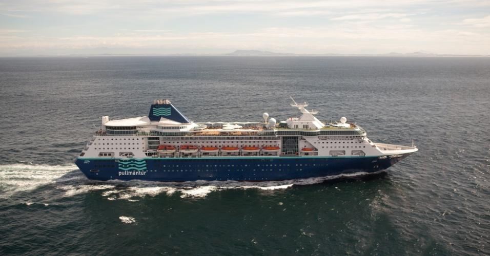 Entre novembro de 2013 e abril de 2014, o navio Empress fará diversos roteiros entre o Nordeste brasileiro e a Argentina