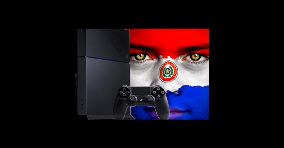 Montagem brinca com a possibilidade de comprar o PS4 mais barato em nosso país vizinho, o Paraguai