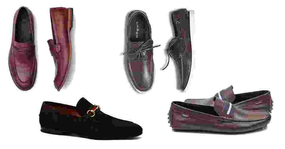"""Existem diferentes modelos de mocassins, entre eles: o """"penny loafer"""", o de camurça, o náutico, """"driver"""" (de motorista em inglês) - Divulgação"""