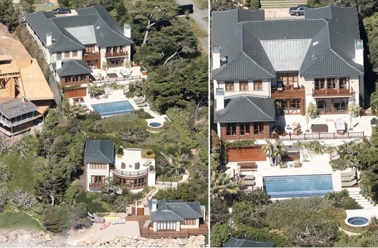 Junto com seu marido, o empresário Rande Gerber, a ex-modelo Cindy Crawford construiu esta casa em Malibu, que tem seis quartos, nove banheiros e uma deliciosa piscina
