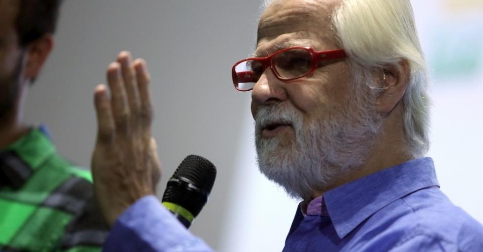 18.out.2013 - Jan Harlan, produtor e cunhado de Stanley Kubrick, surpreende público de