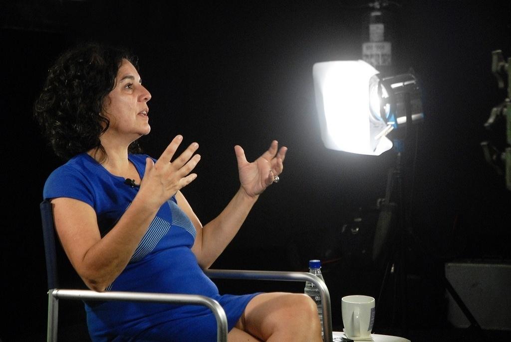 19.out.2013 - A cineasta Tata Amaral fala sobre os filmes que a marcaram em encontro do projeto Filmes da Minha Vida, realizado pela Mostra de São Paulo no Espaço Itaú Augusta