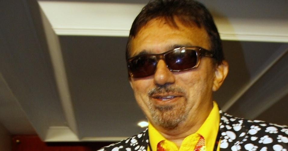21.out.2013 - O cantor Falcão participa da Festa Nacional da Música, em Canela (RS)